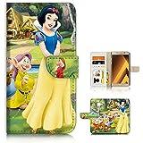 ( For Samsung A5 2017 SM-A520 ) Flip Wallet Case Cover & Screen Protector Bundle! A20324 Snow White Dwarf