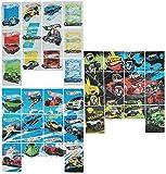 Unbekannt 36 tlg. Set Sticker / Aufkleber - Hot Wheels - selbstklebend - für Jungen Auto Motorrad Wheel Fahrzeuge Stickerset Kinder - z.B. für Stickeralbum / Autos Rennwagen