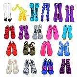 VILLAVIVI 10 Paar Schuhe Pumps Stiefel Sandale Boot für Monster high Doll Puppe