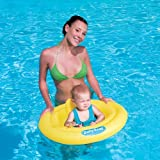 "NEW 31"" SWIM SAFE BABY SWIMMING INFLATABLE FLOAT AID SUPPORT SEAT AGE 0-1 YEARS"