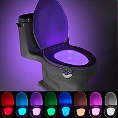 SMILEDRIVE® Toilet Seat Motion Sensor LED Night light-7 color Auto Sensing Glow Light for Bowl Bathroom Emergency Lamp