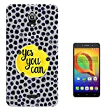 "c01714 - Yes You Can Quote Design alcatel A2 XL 6"" Fashion Trend Silikon Hülle Schutzhülle Schutzcase Gel Silicone Hülle"