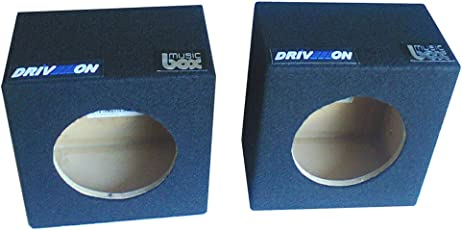 """DRIVEON 4"""" (inch) Round Speaker Cabinet for Mounting 4"""" Speakers"""