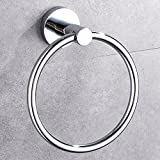 #8: INDISWAN™ Bathroom Towel Napkin Ring Stainless Steel (Silver, Chrome Finish)