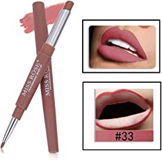MISS ROSE 2 IN 1-33 LONG LASTING CREME MATTE WATER PROOF LIPSTICK WITH LIP LINER