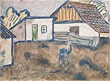 Das Museum Outlet–Otto Mueller–Hauser mit Ofen und Schwein–ca1928–A3Poster