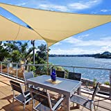 WOLTU Sonnensegel Rechteck 5x7m Sand atmungsaktiv Sonnenschutz HDPE Windschutz mit UV Schutz für Garten Terrasse Camping - 2