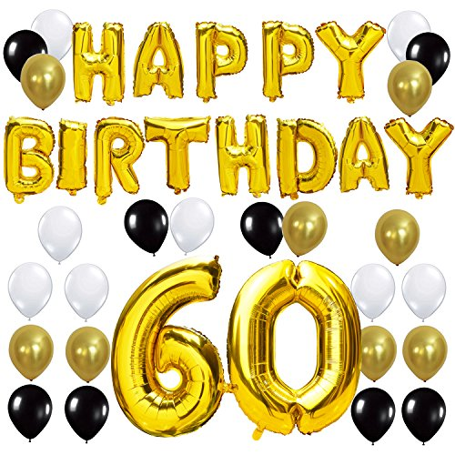 KUNGYO 60TH Birthday Party Decorations Kit