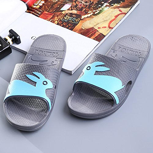Y-Hui Ladies pantofole, estate Camera, bagno antislittamento pantofole, Soft suole, suole in plastica, pantofole, Donna Summer gray
