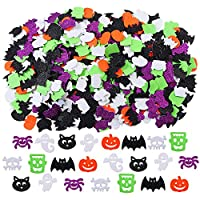 Aneco 550 Pieces Glitter Halloween Foam Stickers Assorted Halloween Styles Self Adhesive Foam Craft Stickers for Halloween Decoration Supplies