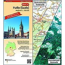 Halle (Saale): Umgebungskarte mit Satellitenbild 1:250.000 (TK250 / Topographische und Satellitenbildkarte)