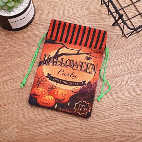 Dkings Halloween Candy Taschen - Sackleinen Geschenktaschen mit Doppel Jute Zugstränge, für Halloween behandelt Taschen, Halloween Party Gefälligkeiten, Halloween Party liefert