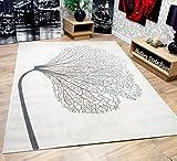 New Soft Touch Venus Flower Grey Stunning Designer Floor Pattern Rug 160x230cm (5ft 6 x 7ft 6)