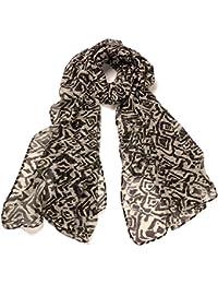 DonDon® Damen Schal Tiger-Muster weich und groß