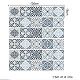 QQA Treppen Aufkleber Fußboden Abziehbilder Retro Dekoration 3D Refurbished DIY Aufkleber Kunst Entfernbar Wasserdicht Selbstklebend Kreativ Zuhause Dekor Wandgemälde