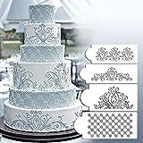 lzn Zuckerfertigkeit Prinzessin Spitze Kuchen Kuchen-Stencils Prinzessin Lace Flexible Craft