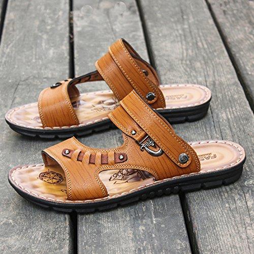 @Sandals Sommer Toe, Jugend Legere Schuhe, Verschleißfest, Rutschfeste, Flip Flops, Coole Hausschuhe, 41, Hell Gelb - Schönes Schuhe Wrestling