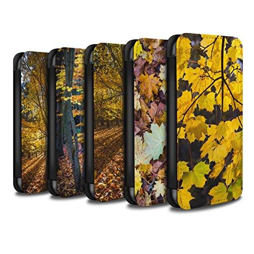 Stuff4 Coque/Etui/Housse Cuir PU Case/Cover pour Apple iPhone 5C / Feuilles/Arbre Design / Automne Saison Collection Pack 5pcs