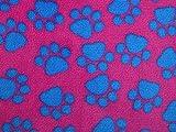 Paw Prints Plüsch Cuddle Superweicher Fleece türkis &