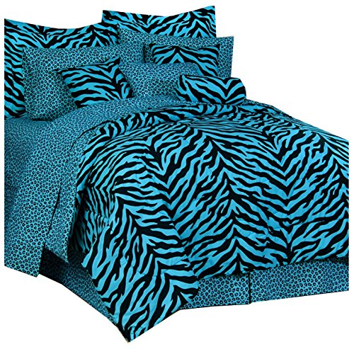 Blau ZEBRA komplett – Bettwäsche-Set XL Twin (Xl Twin Bettwäsche-sets)
