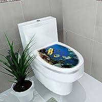 ZZALLL simplicité Style Frais siège de Toilette Autocollant Mural Art Salle de Bain Stickers décor PVC Amovible décor à…
