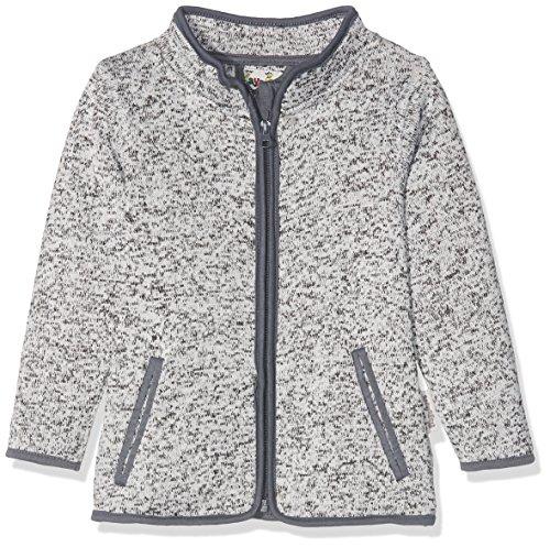 Playshoes Kinder-Jacke aus Fleece, atmungsaktives und hochwertiges Jäckchen mit Reißverschluss, grau, 5-6 Years (Manufacturer Size:116) (Grau Jungen Weste)