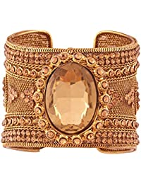 I Jewels Traditional Gold Plated Bangle Kada For Women (ADB150)