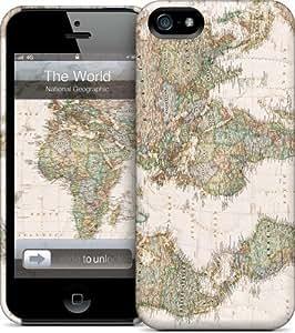GelaSkins Coque pour iPhone 5 Motif mappemonde