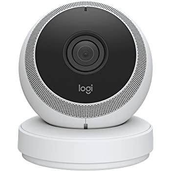 Logitech Circle Security Camera - Wireless HD 1080p CCTV Monitoring with Two-Way Talk, Ideal Pet Cam and Baby Monitor