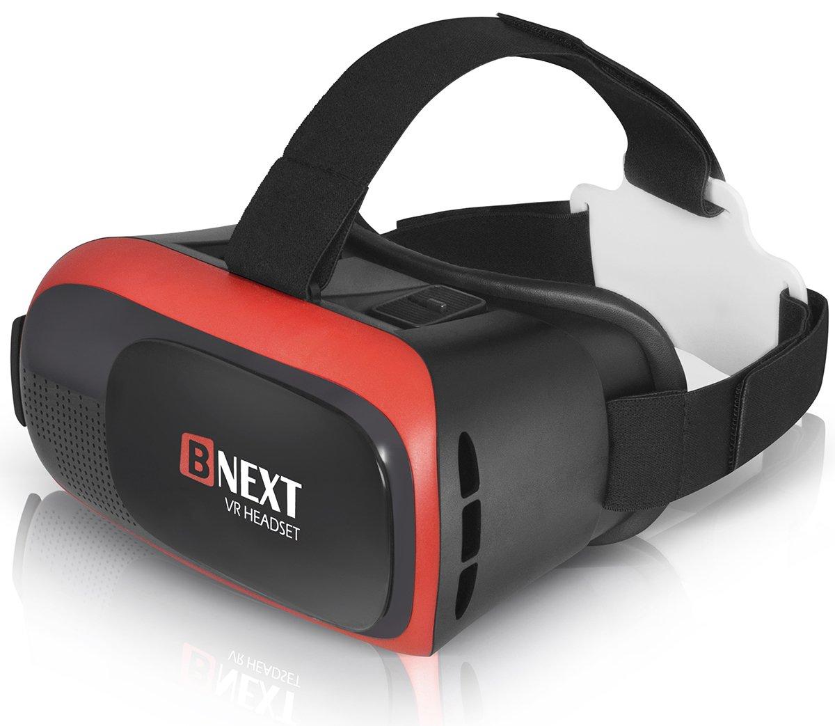 Bnext Casque Réalité Virtuelle, Casque VR pour iPhone & Android – Lancez Les Meilleures Applications/Jeux et Regardez Vos vidéos 3D & 360 avec Un Casque Doux, Confortable et réglable