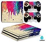 Set di adesivi decorativi per PlayStation 4 Pro (Console + 2 Joypad) - colorato
