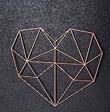 Gravure modulable Origami 3d Cœur en bois–dans différentes tailles et couleurs–Décoration murale moderne & Eyecatcher - Größe: XL (59,0 x 52,3 cm) cuivre