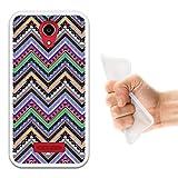 WoowCase Doogee X3 Hülle, Handyhülle Silikon für [ Doogee X3 ] Aztekisches Muster Handytasche Handy Cover Case Schutzhülle Flexible TPU - Transparent
