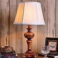 Preisvergleich für ZYCkeji Zart Tischlampe American Country Schlafzimmer Nachttischlampe Dekoration Warm Tischlampe Originalität