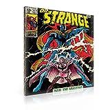 Fertig Zum Aufhängen auf Leinwand–Disney Marvel Dr. Strange Retro Comic Buch–XXL–99,1x 74,9cm (100x 75cm) –-Bild Panel