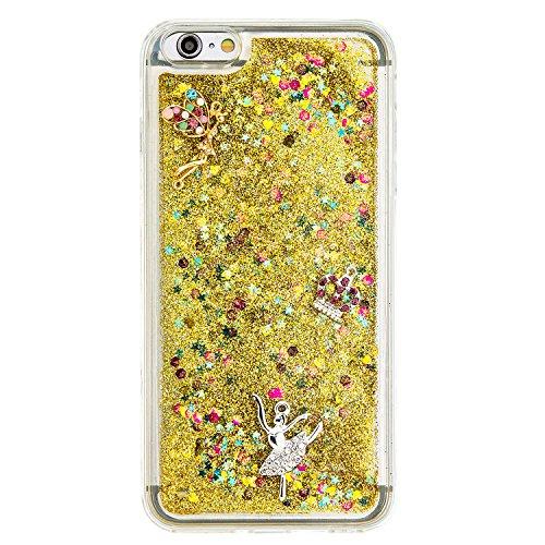 """Flüssiges Case Ultra Thin Dünn TPU Silikon Schutzhülle für iPhone 6 plus /6s plus 5.5"""" 3D Kreative Liquid Handyhülle Durchsichtig Rückseite Tasche Glitter Shiny Kristall Klar Handytasche Sparkle Dynam C05"""