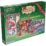 Caja rompecabezas de Jumbo Falcon De Luxe Navidad Collector (1000 piezas)