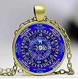 Sternzeichen Wicca Halskette Anhänger, Pentagramm Wicca Vintage Halskette, Herren Schmuck Frauen Geschenk