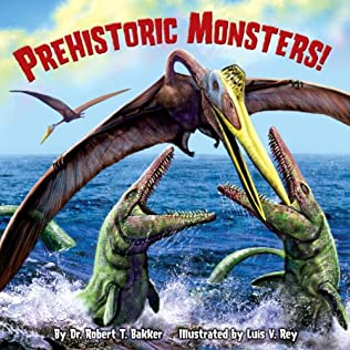 book cover of Prehistoric Monsters!