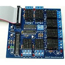SF Innovations Custard Pi 6listo construido–8relé tarjeta con conector de cinta para Raspberry Pi (a, b, B + y RPi 2, 3& Zero)