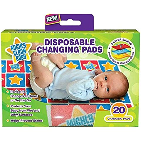 Mighty Clean Baby Disposable Changing Pad - 20 ct by Mighty Clean Baby