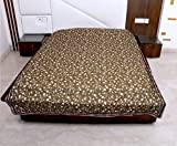 IndiWeaves 3 Layered Quilted Super Soft Cotton Printed Premium Quality Double Bed Dohar/Top-Sheet/AC Blanket_(210X240 CM)(Pack of 1 Piece)_Dark Green