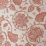 jinchan Paisley bedruckt Tülle Top Vorhänge für Schlafzimmer, Set von zwei, rot, 50