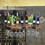 Weinregal Stangen-Hängeregal-Wein-Gestell-Getränkehalter / Haushaltsgegenstände Platzierten Regale ( größe : Fence S-type length 60cm wide 23cm )