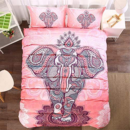 The Unbelievable Dream 3-4-teiliges Bettwäscheset Bettbezug-Set Print Bettbezug Baumwolle Bettwäsche Set (duver Cover + Bettlaken + 1-2 pillowcses)(Single,Full,Queen,King) Kind,Erwachsener