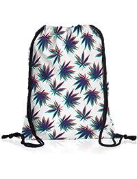 VOID Cannabis Stereo Bolsa mochila bolsos unisex gymsac música jamaica grifa bob reggae no woman marihuana