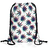VOID Canapa Stereo Borsa da spalla sacco sacchetto drawstring bag gymsac musica giamaica marijuana bob reggae no woman cannabis