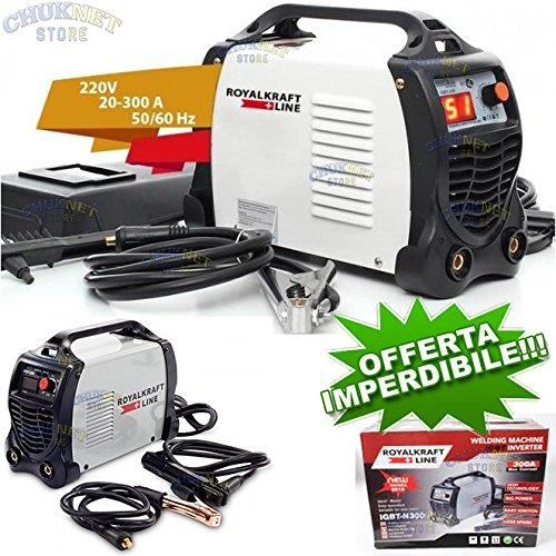 TrAdE shop Traesio Schweißgerät a Elektrode Elektrischer Inverter IGBT SCHWEIßGERÄT 300A Schmied Kabel 2Mt