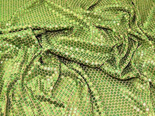 Alle über Pailletten-Georgette-Kleid Stoff Meterware, Limettengrün -