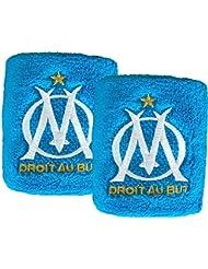 Lot de 2 poignets éponge OM - Collection officielle OLYMPIQUE DE MARSEILLE - Football Ligue 1